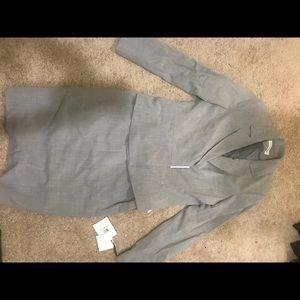 Light grey Calvin Klein two-piece suit